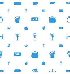 Luxury icons pattern seamless white background vector