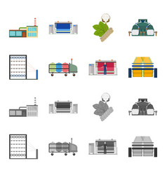 Machine equipment spinning and other web icon vector