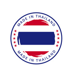 Made in thailand round label vector