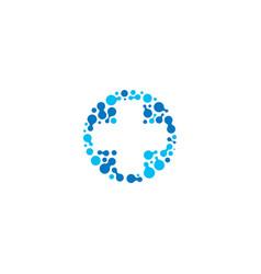 Medical symbol blue cross pharmacy sign vector