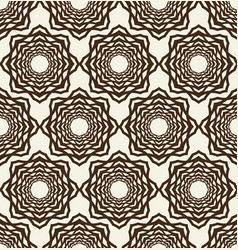 monochrome seamless geometrical flower pattern vector image