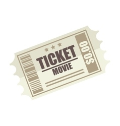 movie film ticket vector image