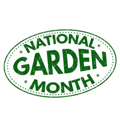 national garden month sign or stamp vector image