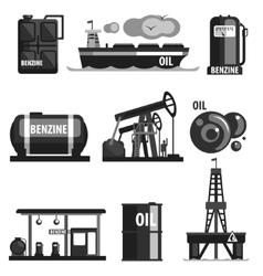 Oil Production Set Of Icons vector