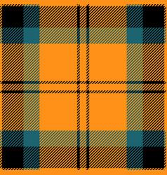 orange and blue tartan plaid seamless pattern vector image
