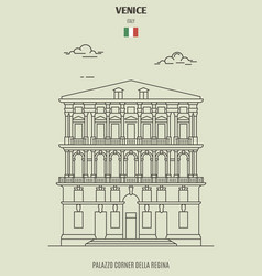 palazzo corner della regina in venice italy vector image