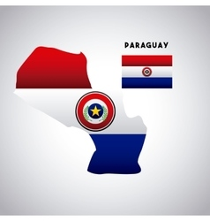 paraguay country design vector image