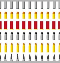 Pattern different caliber bullets ammunition vector
