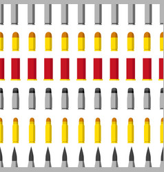 Pattern of different caliber bullets ammunition vector