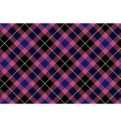 Pink blue black check plaid seamless pattern vector