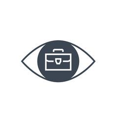 portfolio demonstration glyph icon vector image