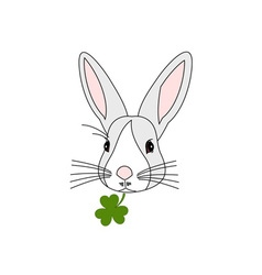 Rabbit-Head-380x400 vector image