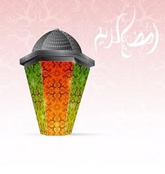 Ramadan traditional lantern vector