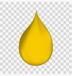 Realistic oil drop vector