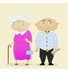 Romantic couple grandparents vector image