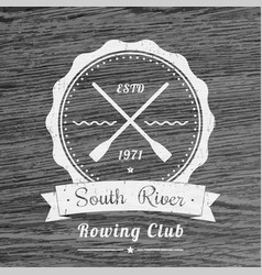 Rowing club vintage logo emblem vector