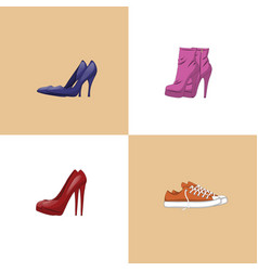 set of trendy women shoes vector image