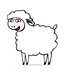 Sheep smiling vector image