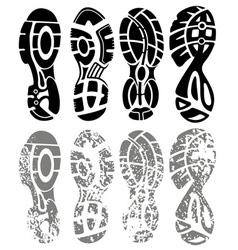 Shoe print grunge vector