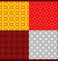 Simple seamless circle pattern design background vector