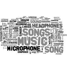 Songs word cloud concept vector