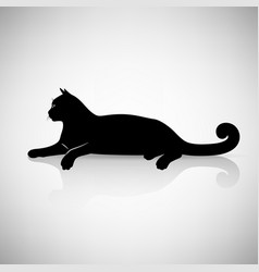 Stylized reclining cat vector