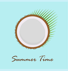 summer card with coconut vector image