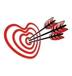 Target and Heart vector