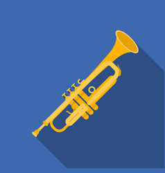 trumpet icon in flat style isolated on white vector image