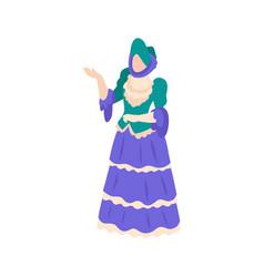 victorian fashion icon vector image