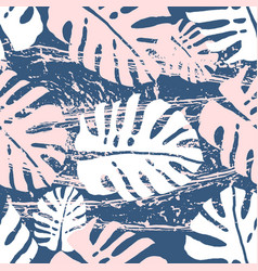 vintage tropical worn pattern vector image