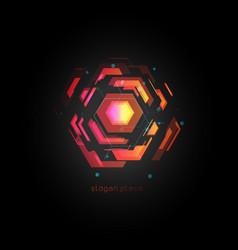 Virtual reality abstract colorful logo vector