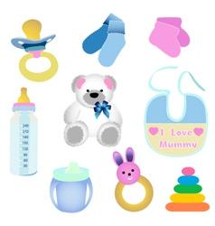 baby elements vector image