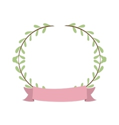 border with leaves and label vector image