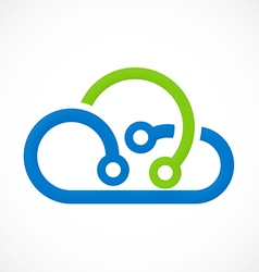 cloud abstract technology logo vector image