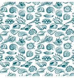 pattern with seashells vector image vector image