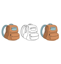 School bag in 3 styles vector image