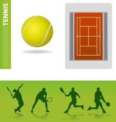 tennis design elements vector image vector image