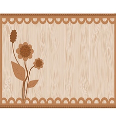 Brown floral card vector image