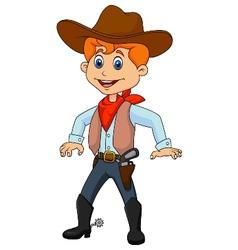 Cowboy cartoon vector image