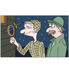 detective and his colleague vector image vector image