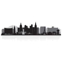 Las vegas usa city skyline silhouette vector