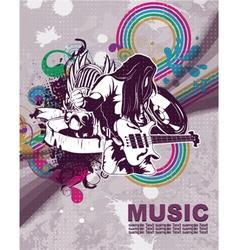 retro concert poster vector image vector image