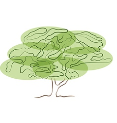 stylized tree silhouette isolated on white vector image