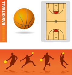 Basketball design elements vector