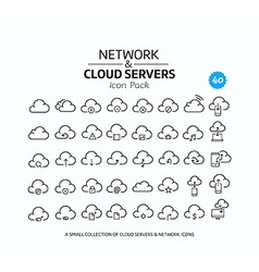 Cloud Service Icon Set vector image
