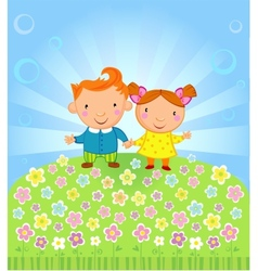 Fine sunny day vector image vector image