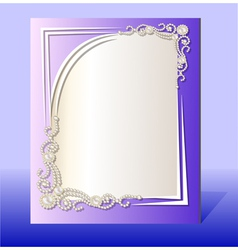 Frame for photo with precious stones vector