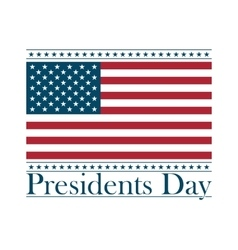 presidents day background united states vector image vector image