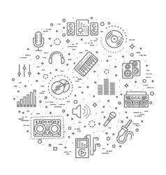 recording media icon set vector image vector image